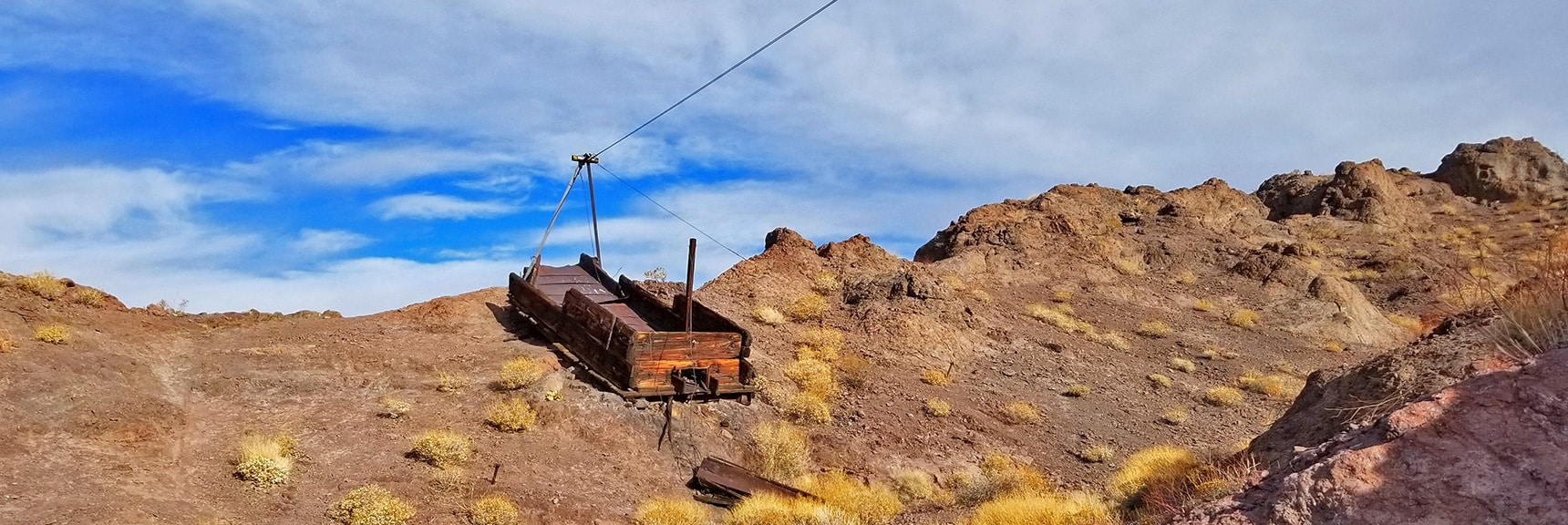 Old Mining Container on Pulley | Arizona Hot Spring | Liberty Bell Arch | Lake Mead National Recreation Area, Arizona