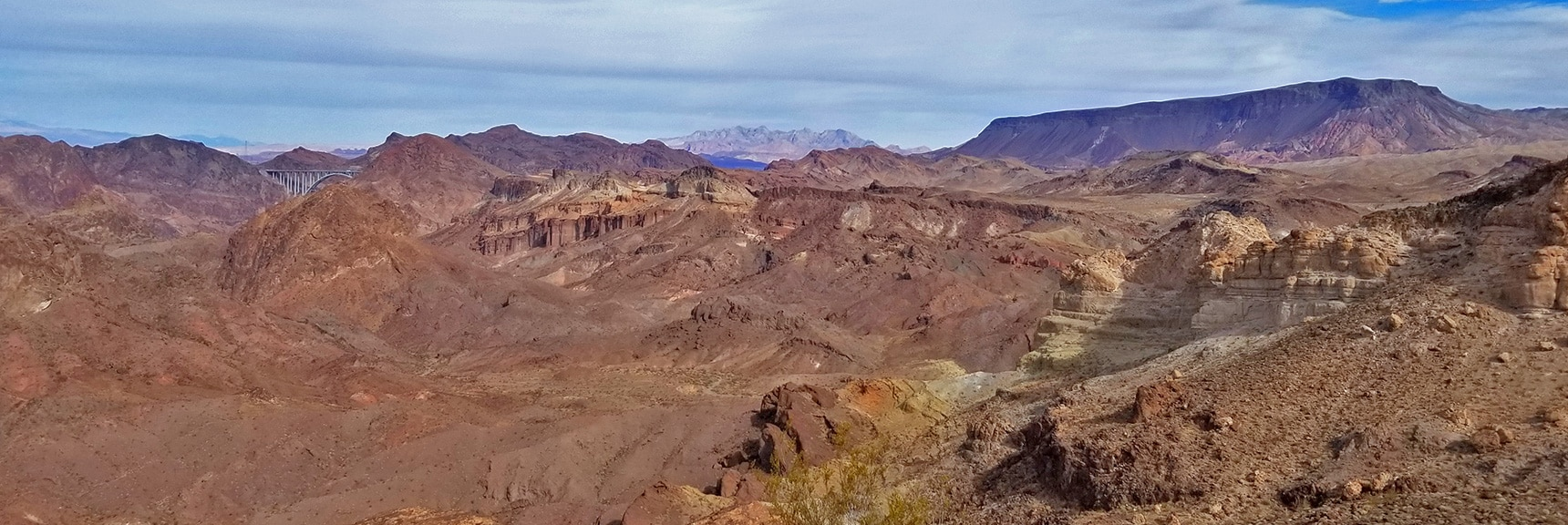 I-11/Hwy93 Bridge, Muddy Mts., Lake Mead and Fortification Hill | Arizona Hot Spring | Liberty Bell Arch | Lake Mead National Recreation Area, Arizona