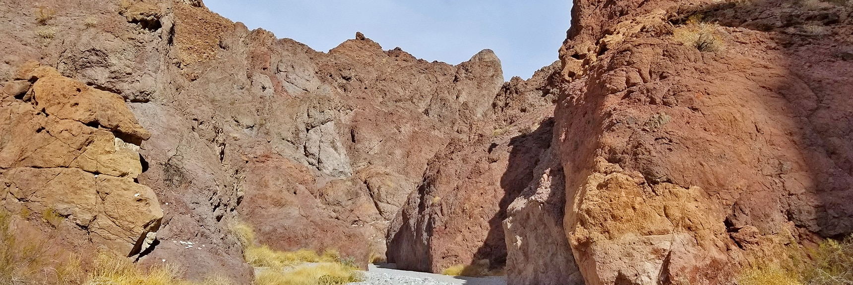 Continuing to Wind Down White Rock Canyon. Fine Deep Gravel Surface. | Arizona Hot Spring | Liberty Bell Arch | Lake Mead National Recreation Area, Arizona