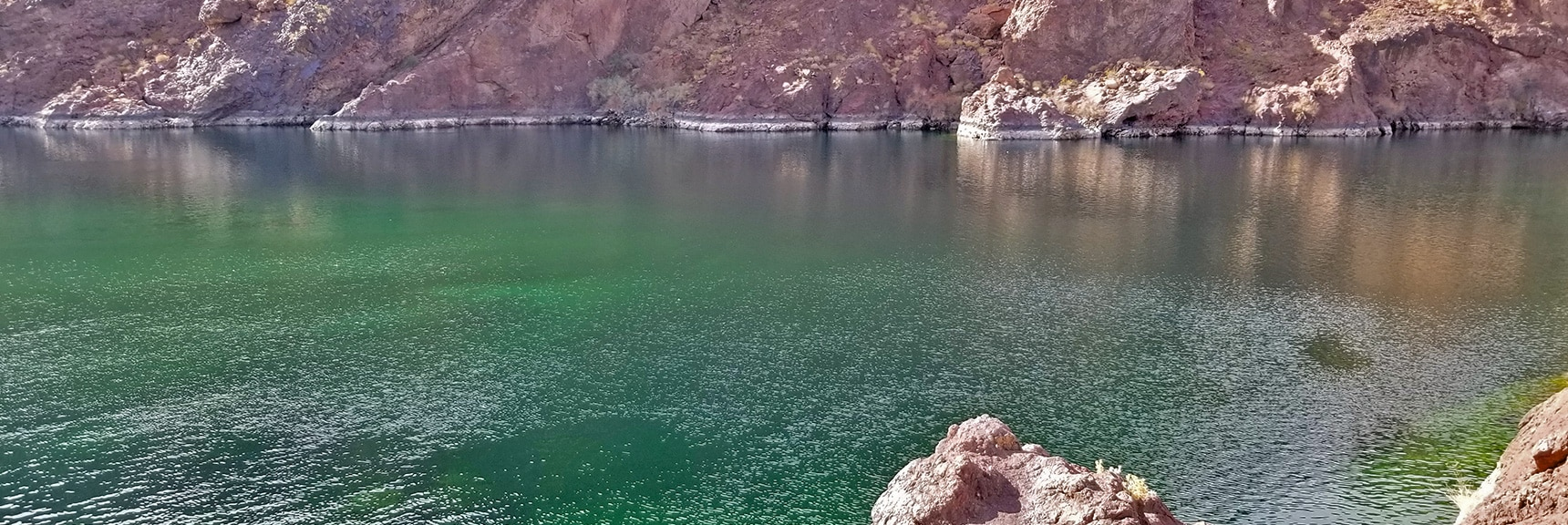 Peaceful, Turquoise Colorado River. Water Supply to Southwest U.S. | Arizona Hot Spring | Liberty Bell Arch | Lake Mead National Recreation Area, Arizona
