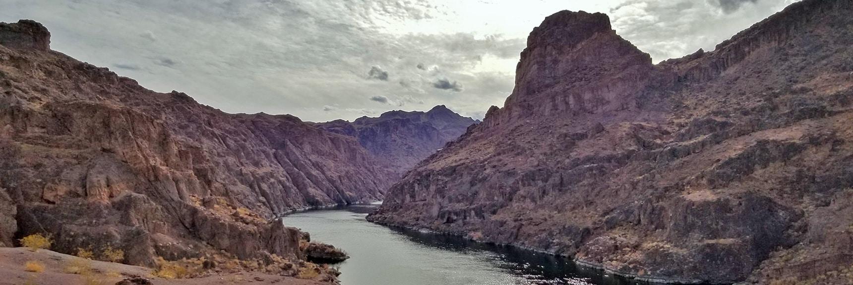 Colorado River Downstream View. | Arizona Hot Spring | Liberty Bell Arch | Lake Mead National Recreation Area, Arizona