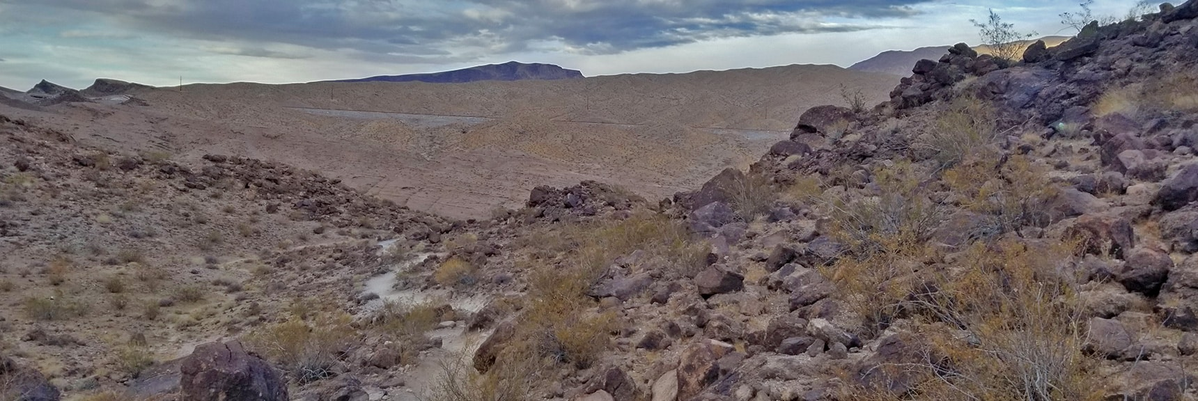 Descending Into White Rock Canyon. Highway 93 In View. | Arizona Hot Spring | Liberty Bell Arch | Lake Mead National Recreation Area, Arizona