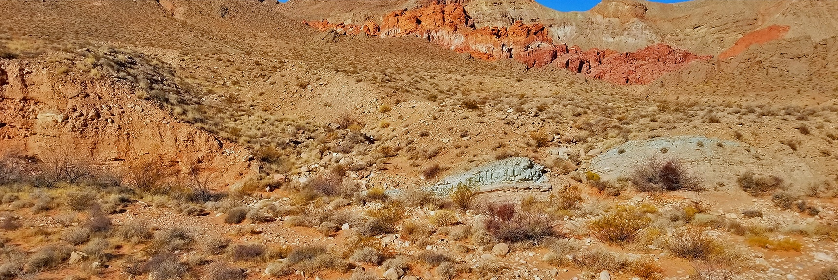 Trail Descends to the Wash Leading to Bowl of Fire | Bowl of Fire, Lake Mead National Recreation Area, Nevada