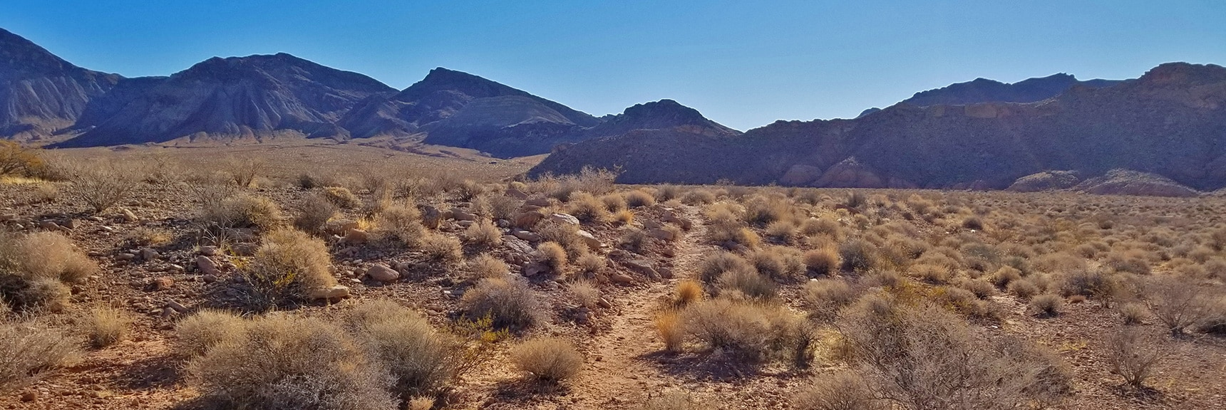 Bowl of Fire Trail in Excellent Condition, Looking Back Toward Trailhead | Bowl of Fire, Lake Mead National Recreation Area, Nevada