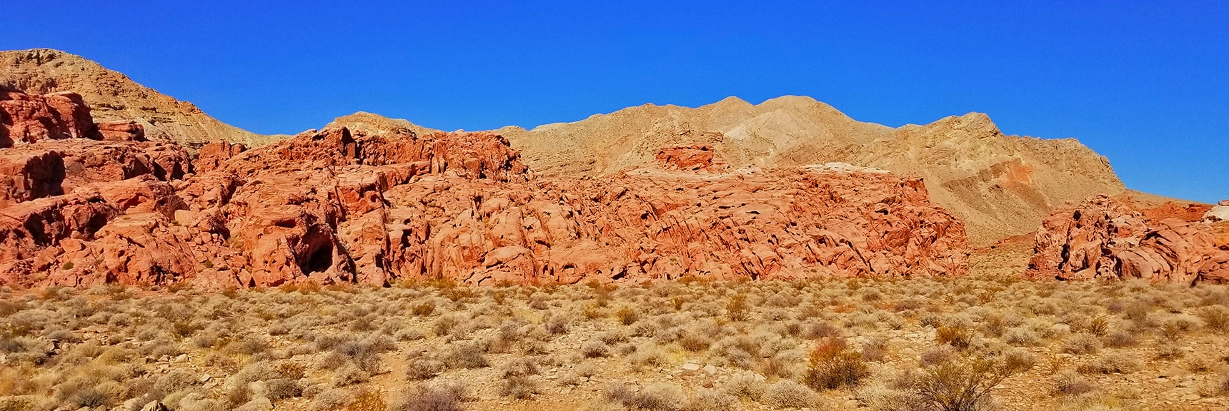 View Toward Northern End of Bowl of Fire, Backdrop Muddy Mountains | Bowl of Fire, Lake Mead National Recreation Area, Nevada