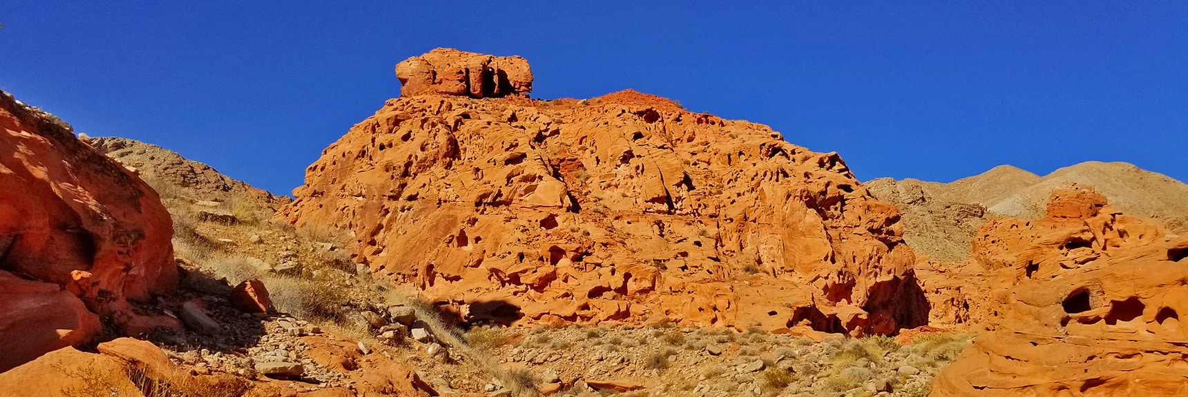 Huge Mound of Jurassic Era Aztec Red Rock | Bowl of Fire, Lake Mead National Recreation Area, Nevada