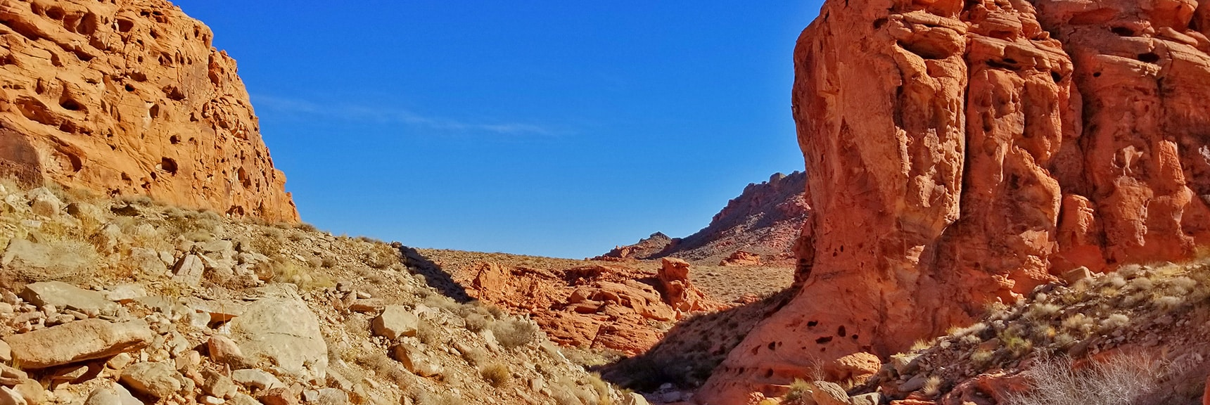 View Toward Southern End of Bowl of Fire. Muddy Mountains in Background | Bowl of Fire, Lake Mead National Recreation Area, Nevada
