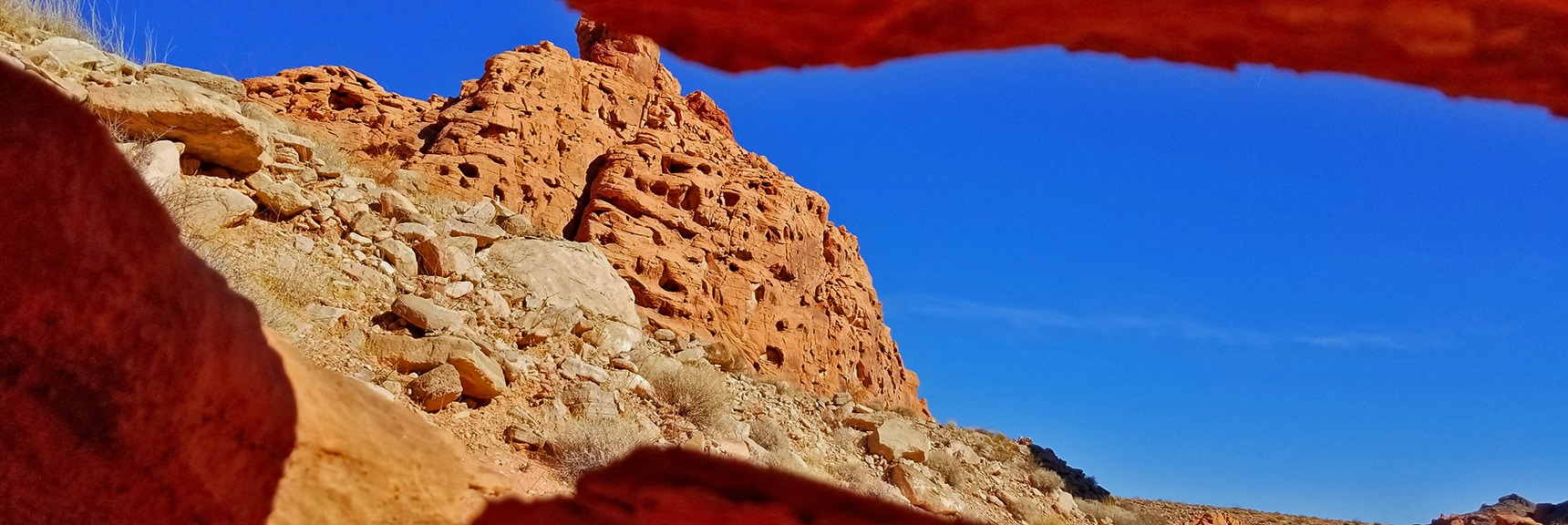Intricate Openings in Jurassic Era Aztec Red Rock | Bowl of Fire, Lake Mead National Recreation Area, Nevada