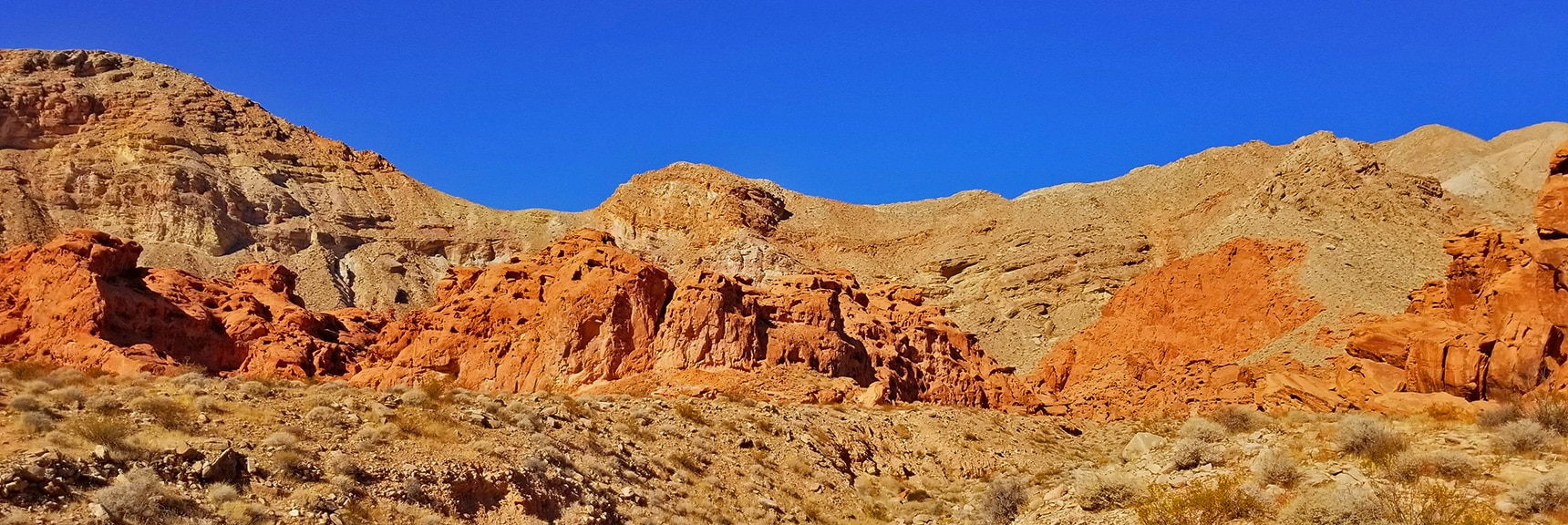 The Iron Leached Up Through the Sand Turning It Reddish | Bowl of Fire, Lake Mead National Recreation Area, Nevada