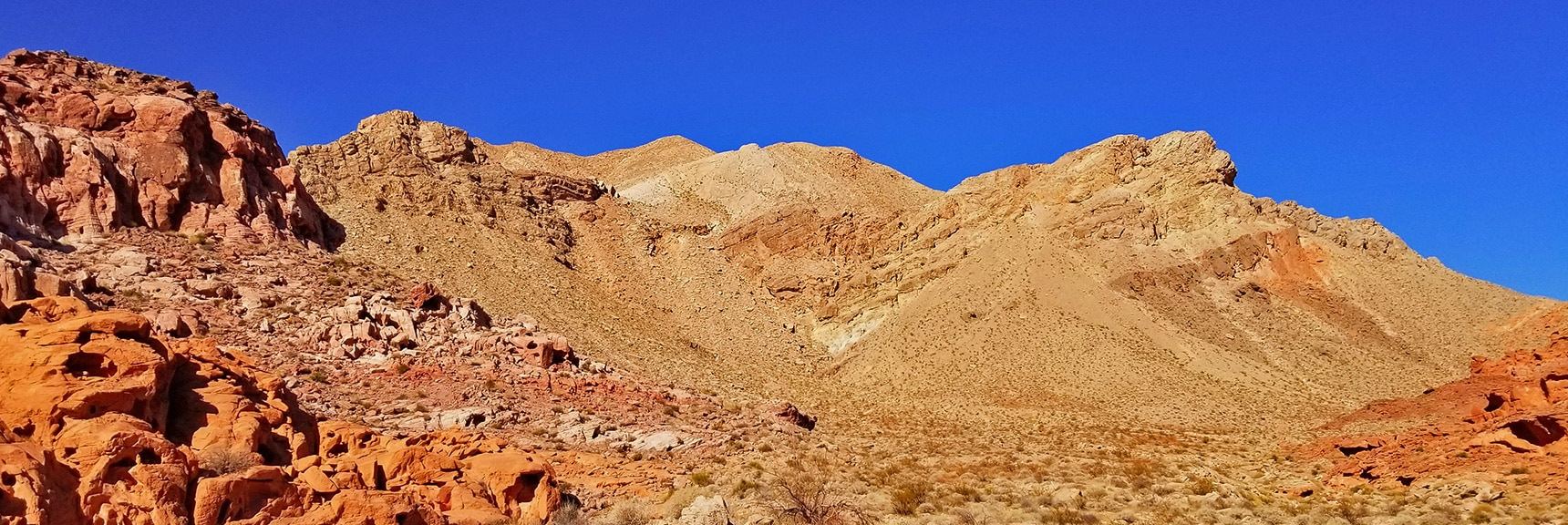 Northern End of the Bowl of Fire: Muddy Mountains, Possible Entrance to Anniversary Narrows Slot Canyon | Bowl of Fire, Lake Mead National Recreation Area, Nevada