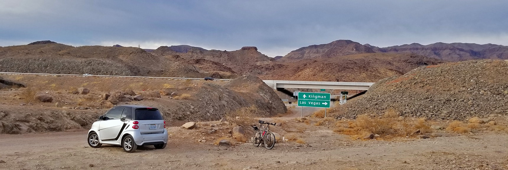 The Adventure Begins at Hwy 93 & Kingman Wash Rd   Fortification Hill   Lake Mead National Recreation Area, Arizona