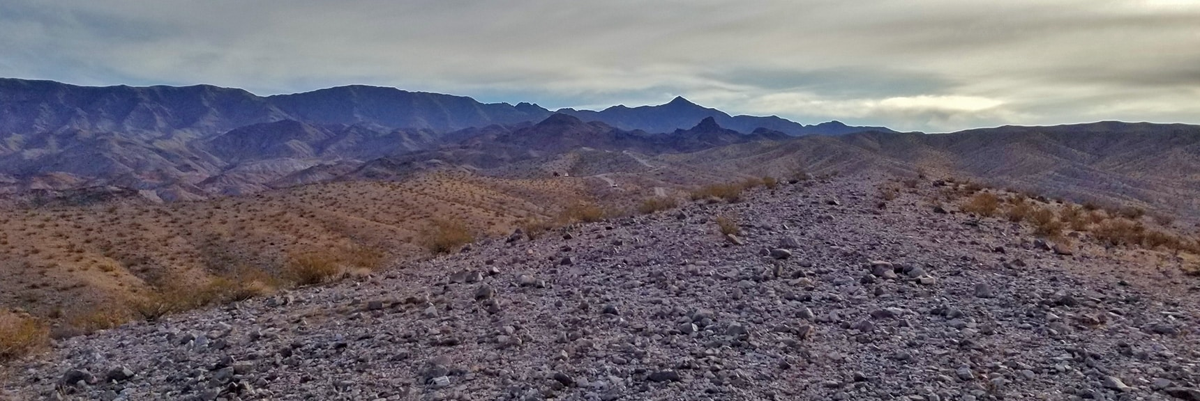 View Up North Mine Access Rd Toward Mt. Wilson | Fortification Hill | Lake Mead National Recreation Area, Arizona