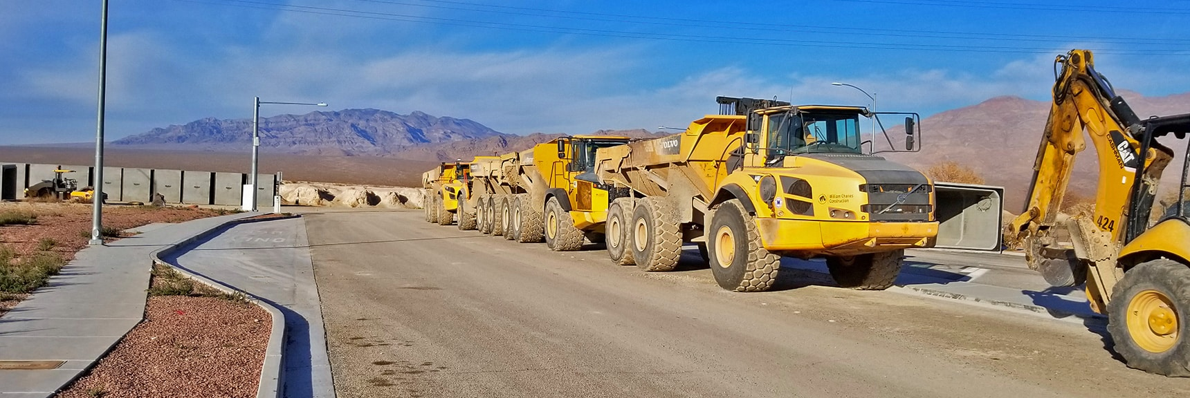 Construction Equipment at the North End of Durango Road at Tule Springs Fossil Beds | Snapshot of Las Vegas Northern Growth Edge on January 3, 2021