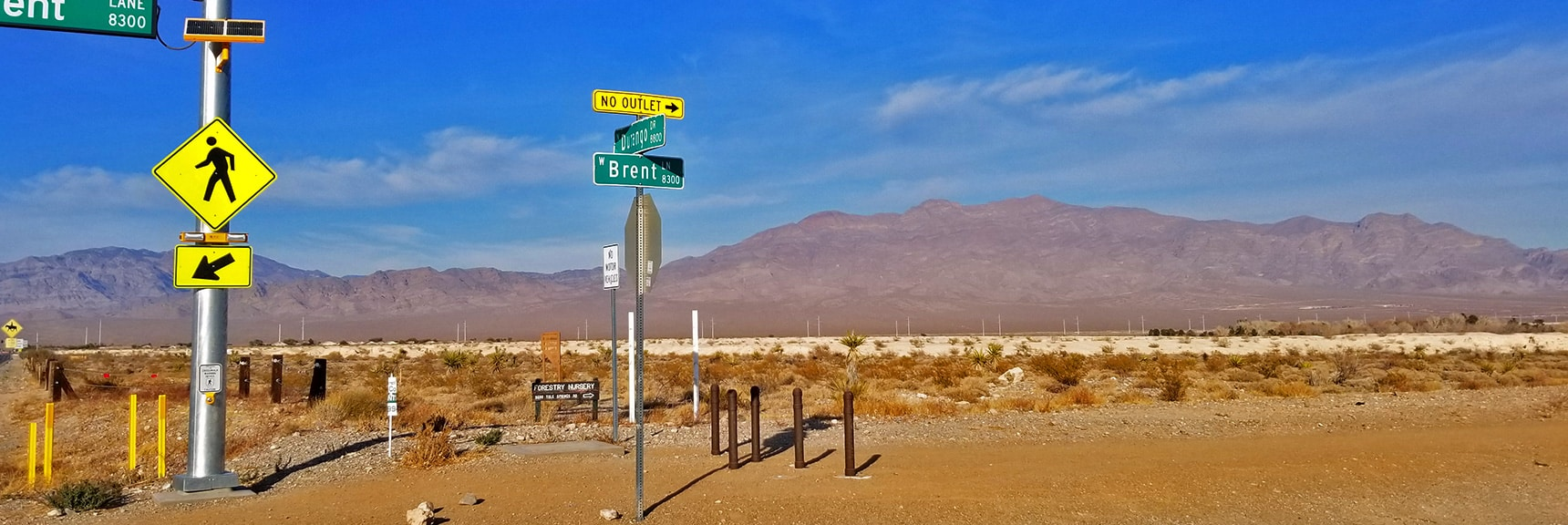 Brent and Durango, Gass Peak and Sheep Range in Background | Snapshot of Las Vegas Northern Growth Edge on January 3, 2021