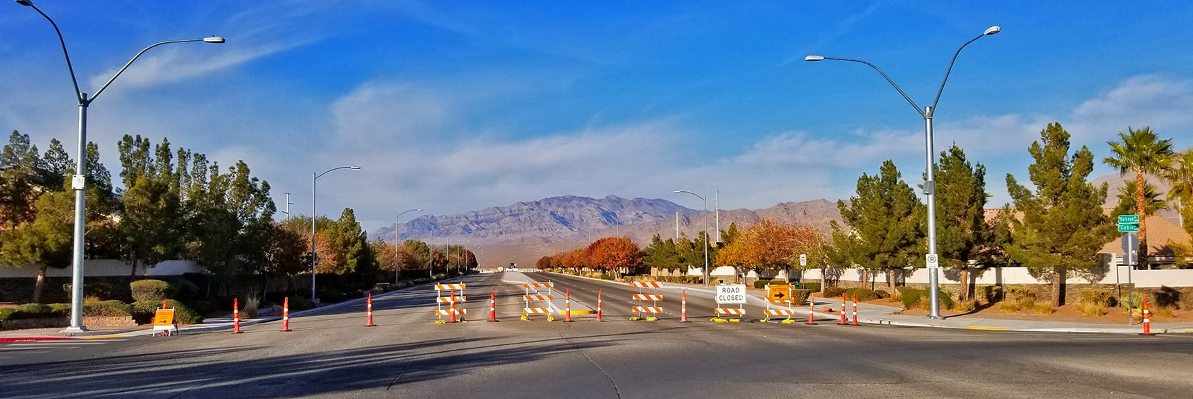 Blocked Off Northern Section of Durango, Construction Begins | Snapshot of Las Vegas Northern Growth Edge on January 3, 2021