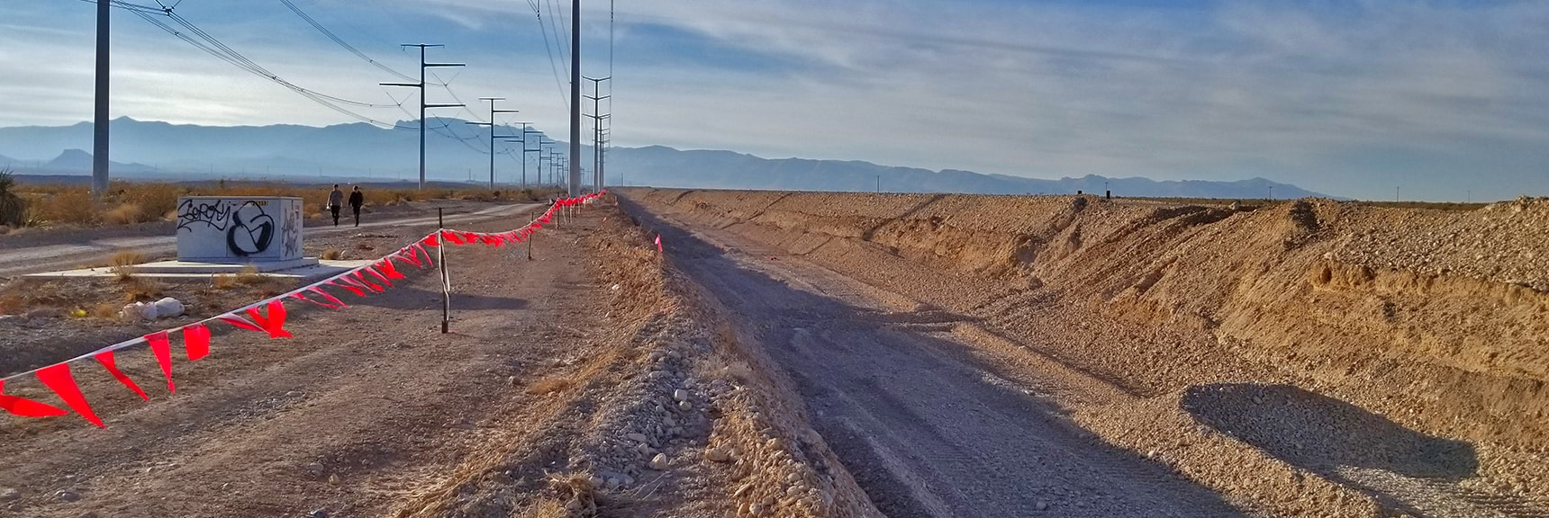 Moccasin Looking West Toward Hwy 95 and Mt. Charleston Wilderness. | Snapshot of Las Vegas Northern Growth Edge on January 3, 2021