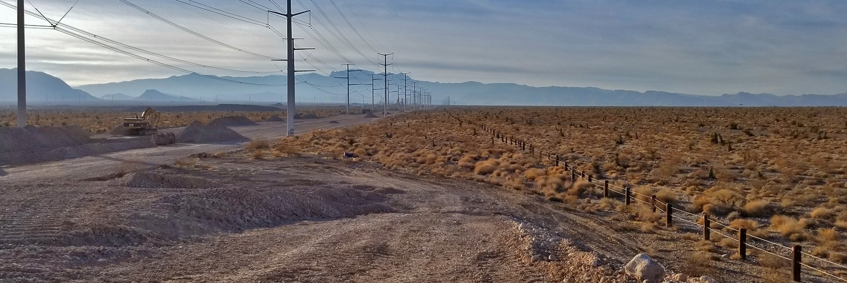 View West Down Moccasin Toward Hwy 95 and Me Charleston Wilderness. | Snapshot of Las Vegas Northern Growth Edge on January 3, 2021