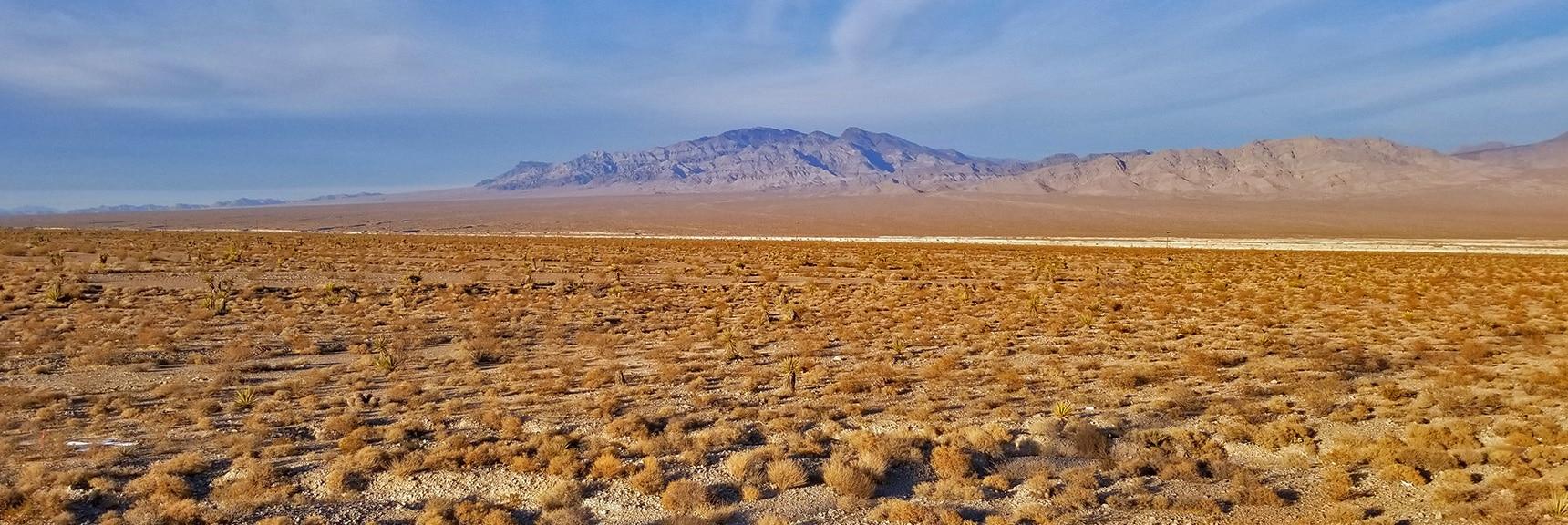 View North of Moccasin Toward Sheep Range | Snapshot of Las Vegas Northern Growth Edge on January 3, 2021