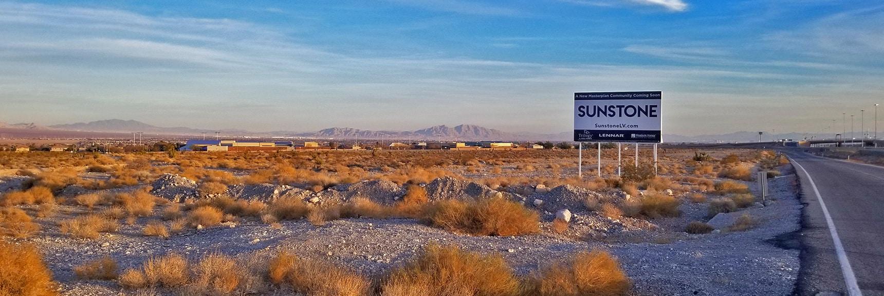 Sunstone Estates Just Before Development | Snapshot of Las Vegas Northern Growth Edge on January 3, 2021