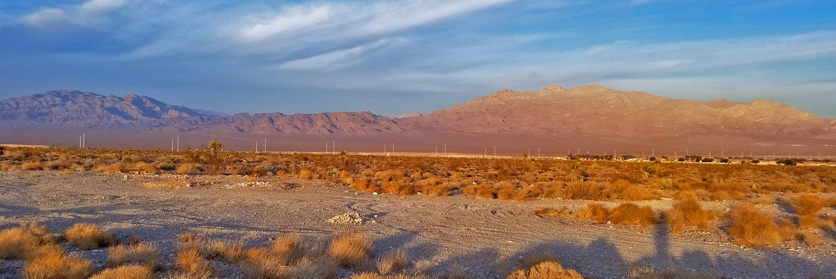View from Skye Point Toward Sheep Range and Gass Peak | Snapshot of Las Vegas Northern Growth Edge on January 3, 2021