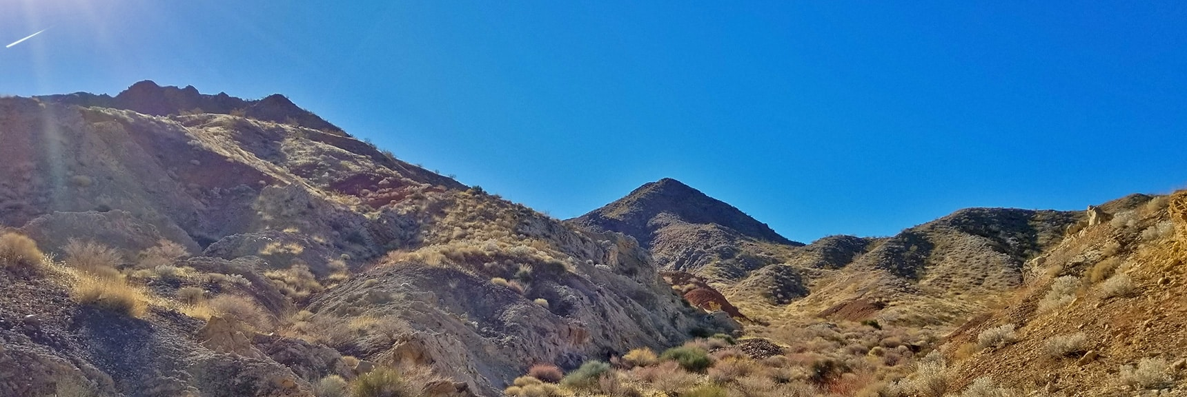 First View of Hamblin Mt. Through Approach Washes | Hamblin Mountain, Lake Mead National Conservation Area, Nevada
