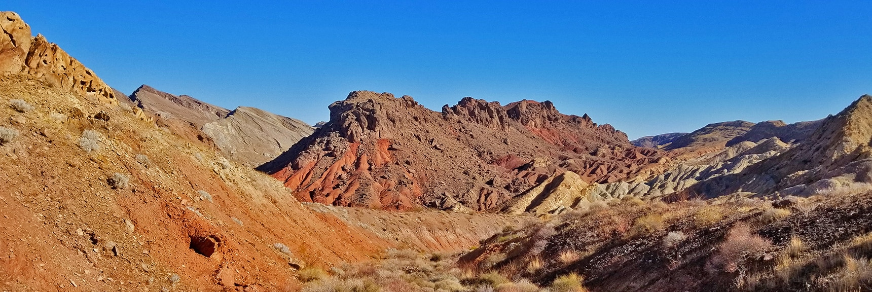 Rugged Terrain in the Hamblin Mt. Area Formed by Water's Action | Hamblin Mountain, Lake Mead National Conservation Area, Nevada