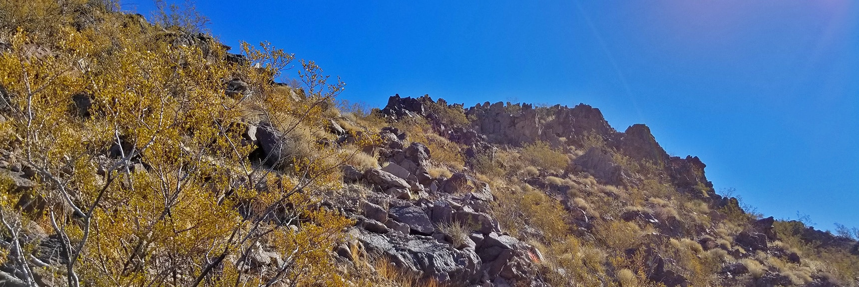 Nearing the First Summit in the High Points Around Hamblin Mt. | Hamblin Mountain, Lake Mead National Conservation Area, Nevada