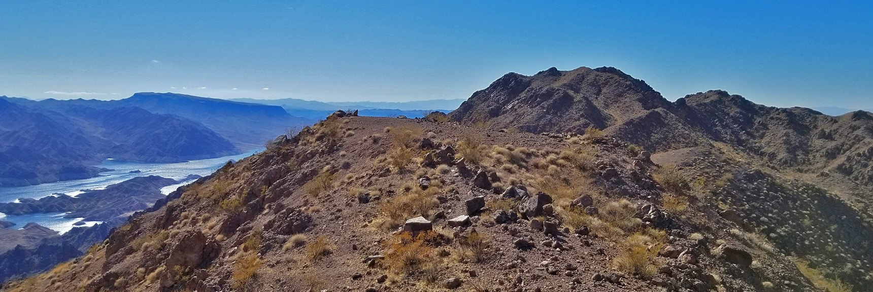 First View of Lake Mead from a Summit Ridge to the North of Hamblin Mt. | Hamblin Mountain, Lake Mead National Conservation Area, Nevada