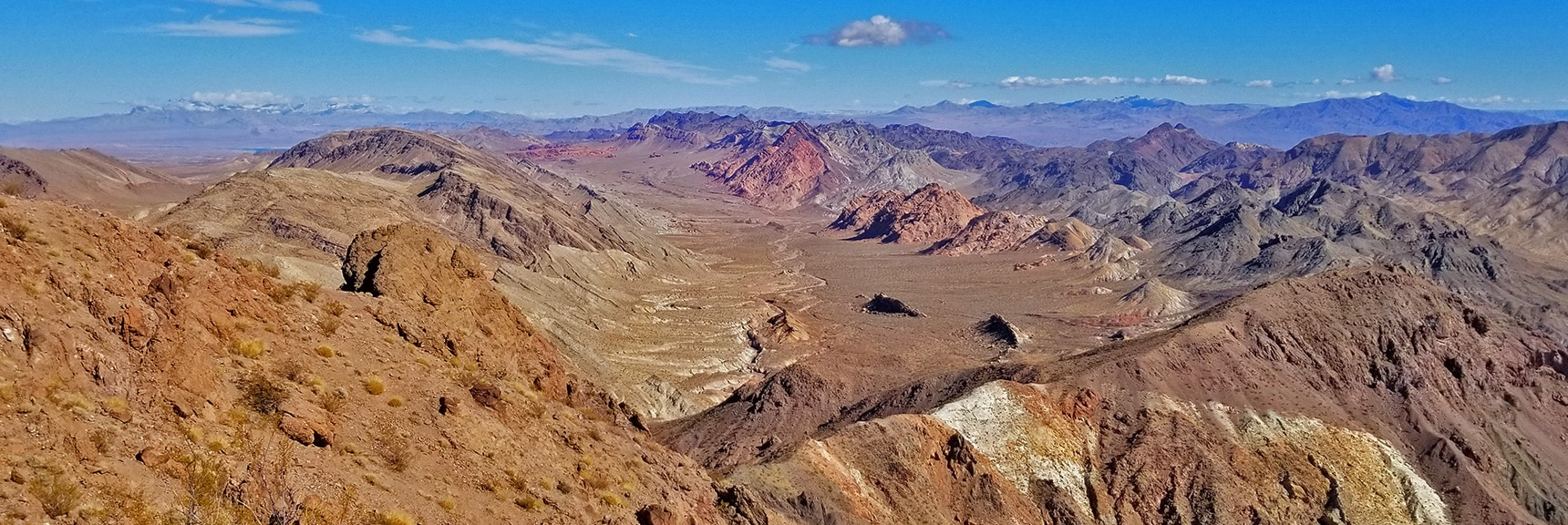 Pinto Valley from a Summit Ridge to the North of Hamblin Mt. | Hamblin Mountain, Lake Mead National Conservation Area, Nevada
