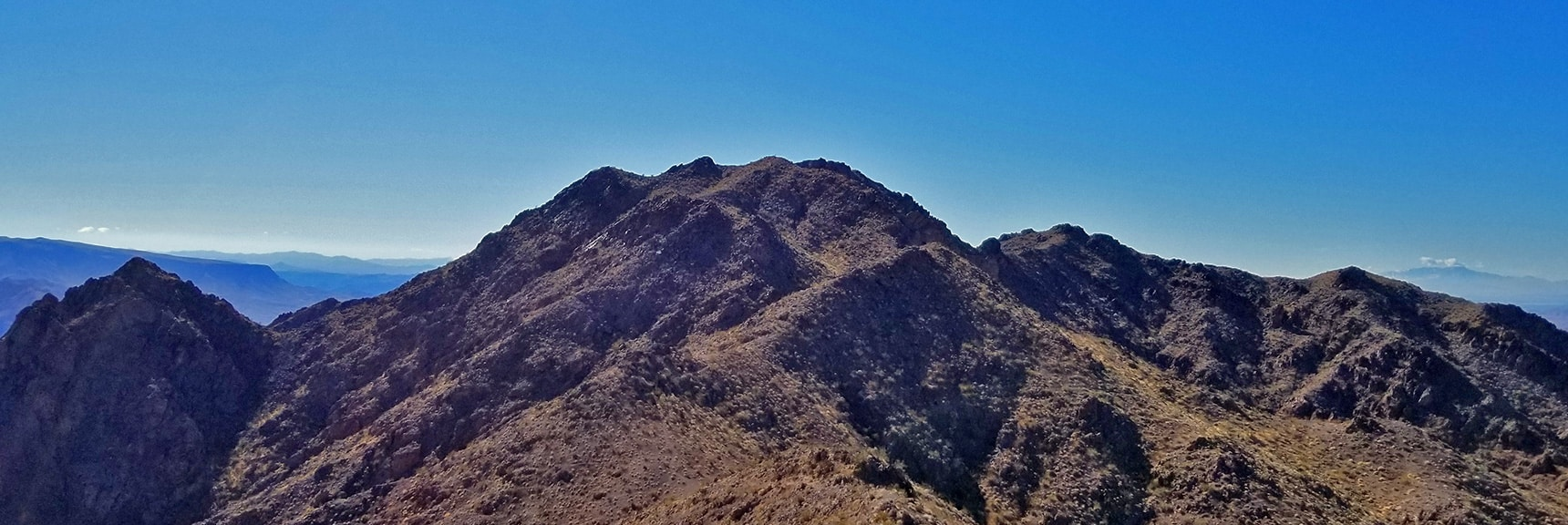 Hamblin Mt. Summit Viewed from a Summit Ridge to the North | Hamblin Mountain, Lake Mead National Conservation Area, Nevada