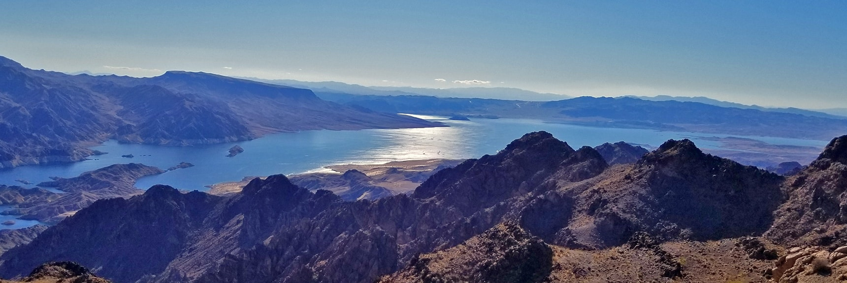 Fortification Hill and View Toward Hoover Dam Area from Hamblin Mt. Summit | Hamblin Mountain, Lake Mead National Conservation Area, Nevada