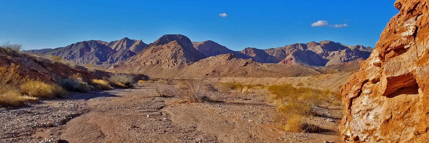 View of the Muddy Mts. as the Wash Opens Just East of Northshore Mile 18 | Hamblin Mountain, Lake Mead National Conservation Area, Nevada