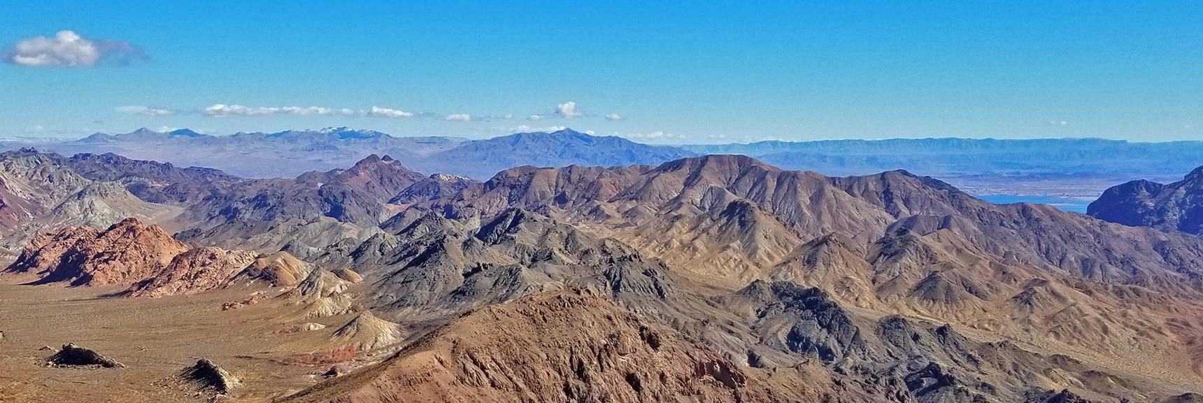 Virgin Mts?, Jimbilnan Wilderness? in Far Background | Hamblin Mountain, Lake Mead National Conservation Area, Nevada