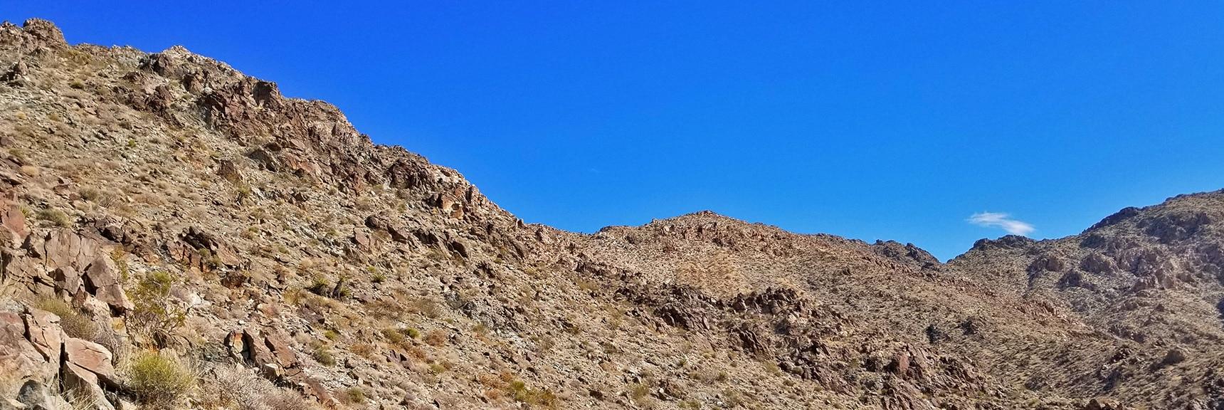 Ridge System Leading Further Upward Toward Mt. Wilson | Mt Wilson, Black Mountains, Arizona, Lake Mead National Recreation Area