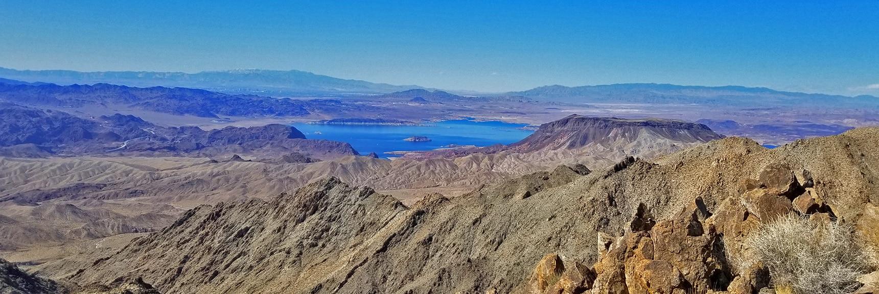 Lake Mead, Frenchman Mt., Mt. Charleston Wilderness, Gass, Peak, Sheep Range, Fortification Hill, Las Vegas Strip | Mt Wilson, Black Mountains, Arizona, Lake Mead National Recreation Area