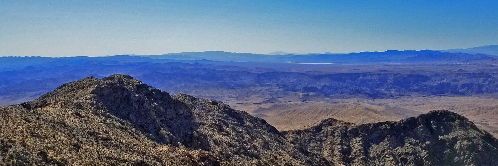 Southern View from Mt Wilson Western Approach Ridge | Mt Wilson, Black Mountains, Arizona, Lake Mead National Recreation Area
