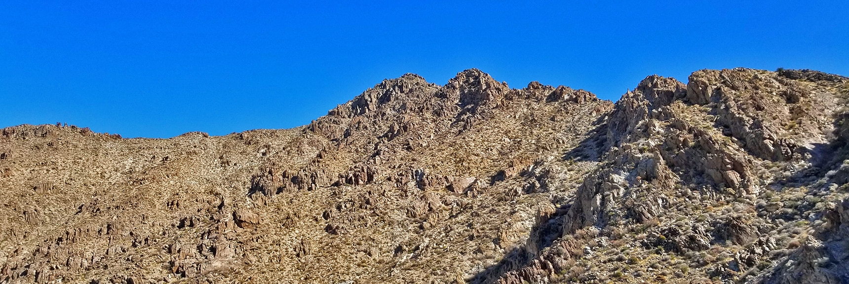 Mt. Wilson Final Summit Approach from Western Approach Ridge | Mt Wilson, Black Mountains, Arizona, Lake Mead National Recreation Area