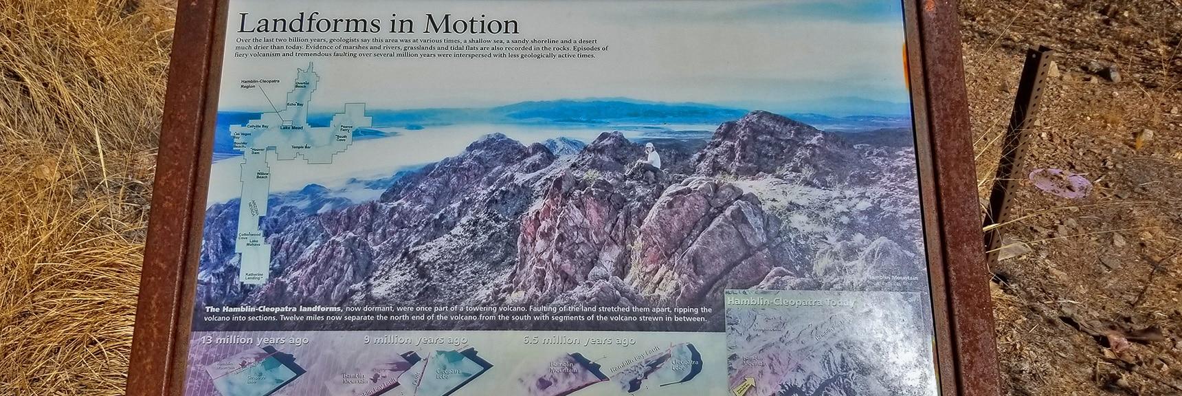Interpretive Display of Geological Activity in Hamblin Mountain Area   Callville Summit Trail   Lake Mead National Recreation Area, Nevada