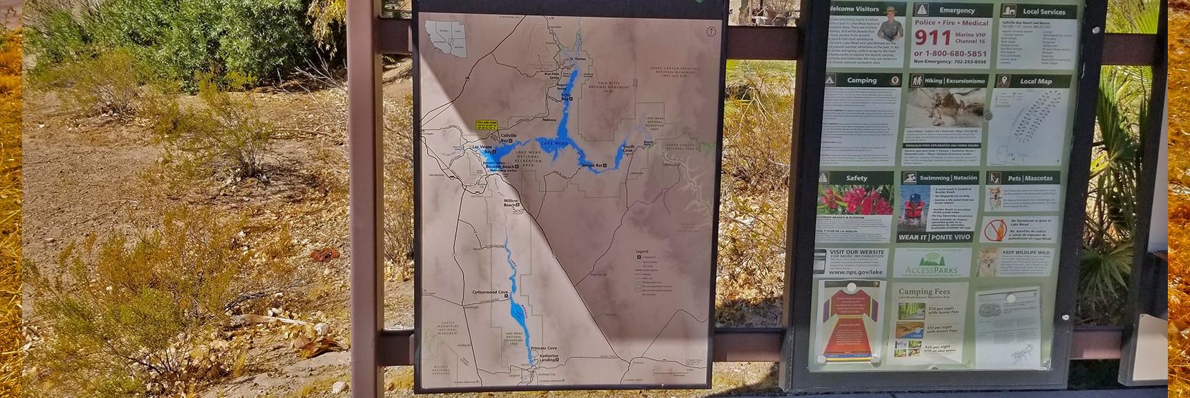 Lake Mead Area Map   Callville Summit Trail   Lake Mead National Recreation Area, Nevada