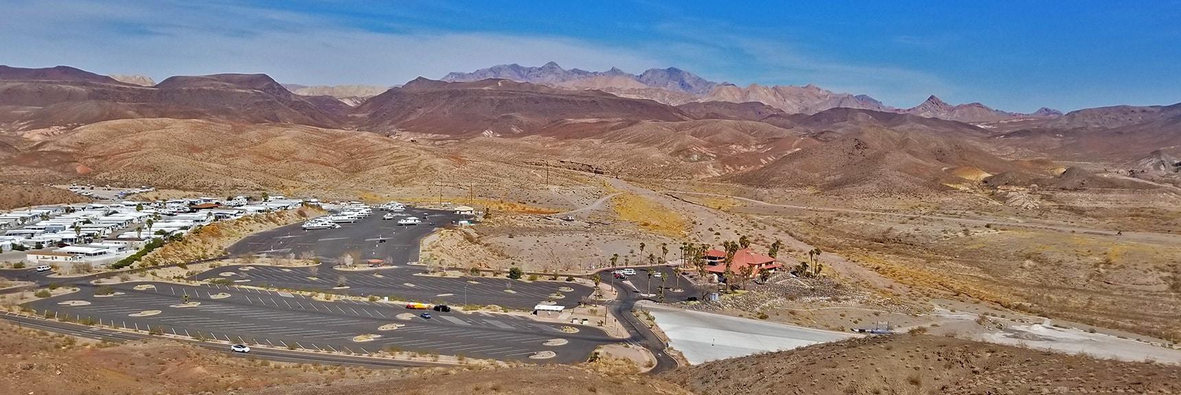 View Across Callville Bay Toward Muddy Mountains   Callville Summit Trail   Lake Mead National Recreation Area, Nevada