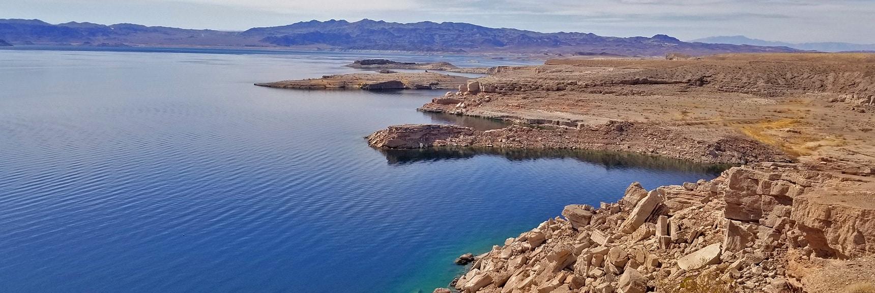 Lake Mead Shoreline from Callville Summit   Callville Summit Trail   Lake Mead National Recreation Area, Nevada