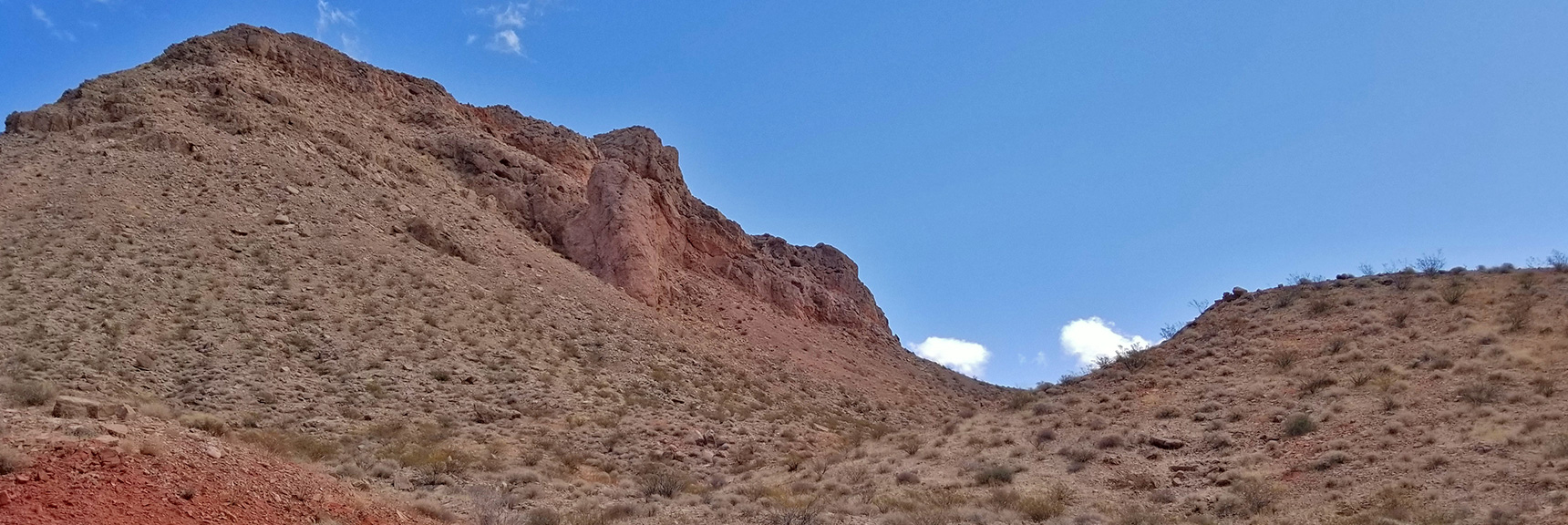 High Ridge Saddle Pass to Return Route   Northern Bowl of Fire   Lake Mead National Recreation Area, Nevada