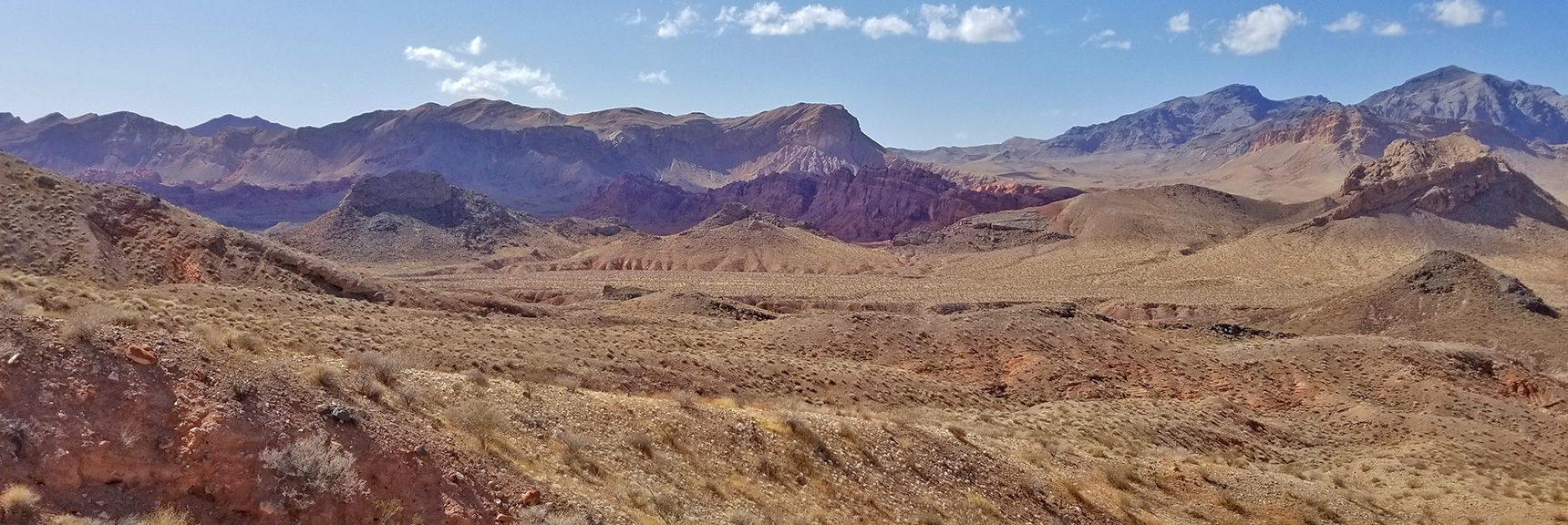 Return Route to Northshore Summit in the Distance   Northern Bowl of Fire   Lake Mead National Recreation Area, Nevada