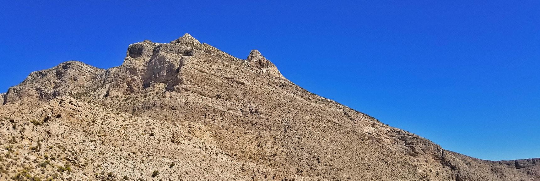 South side of Damsel Peak from an Adjoining Ridge | Damsel Peak Southern Approach | Calico Basin, Nevada
