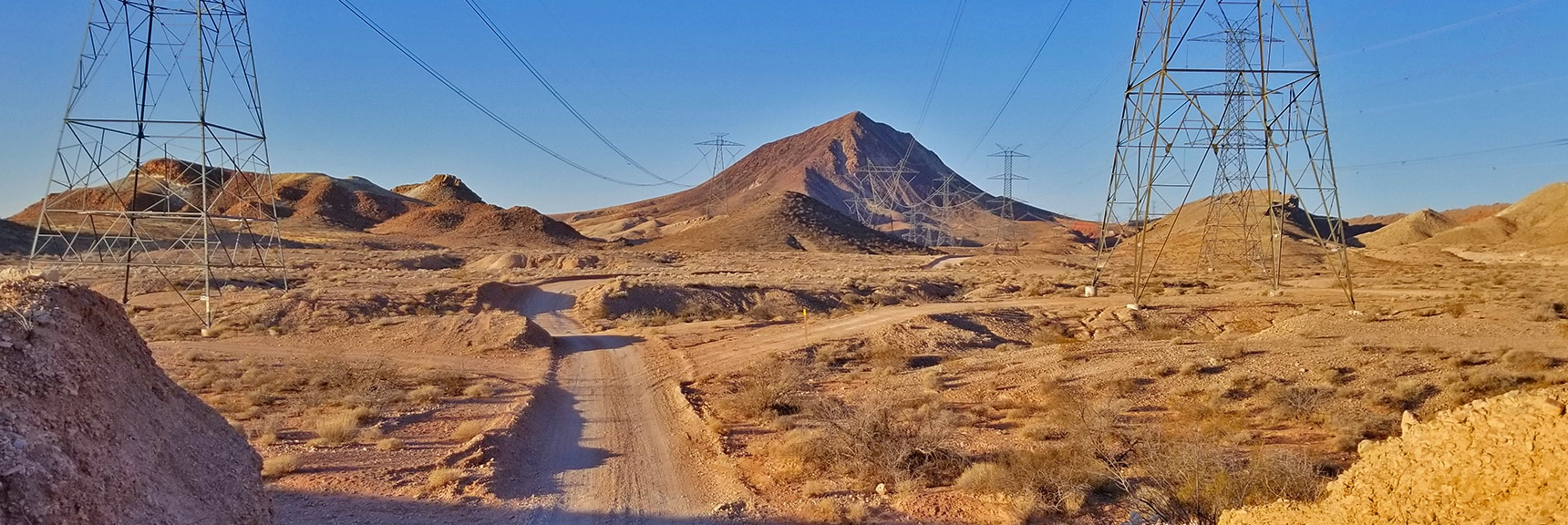 You Can Hear the Crackling of the Massive Power Lines Along This Route. | Lava Butte | Lake Mead National Recreation Area, Nevada