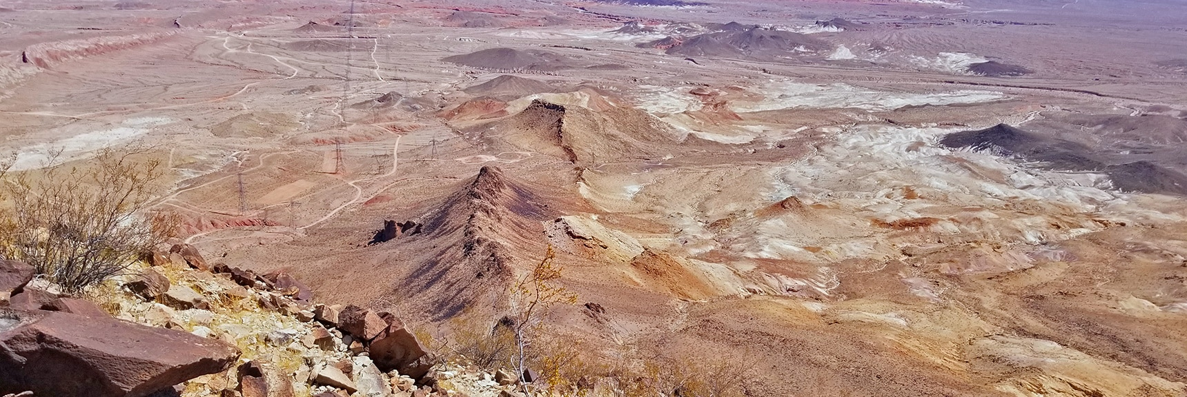 View Back Down the North Ridge of Lava Butte from the Summit | Lava Butte | Lake Mead National Recreation Area, Nevada