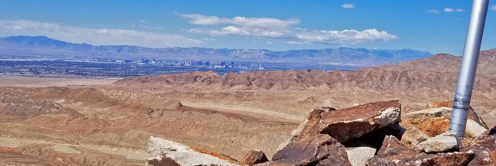Las Vegas Strip, Potosi Mt., Rainbow Mts., La Madre Mts., Charleston Wilderness from Summit | Lava Butte | Lake Mead National Recreation Area, Nevada
