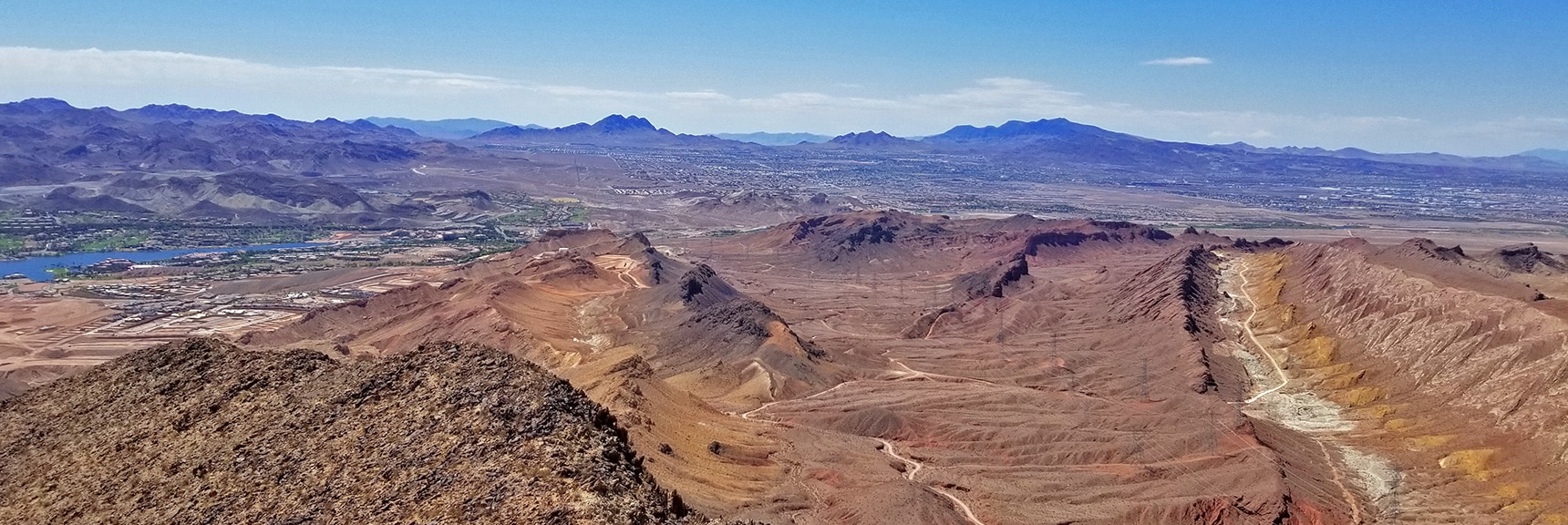 Southern View from the Summit. Full Circle Back to Lake Las Vegas | Lava Butte | Lake Mead National Recreation Area, Nevada