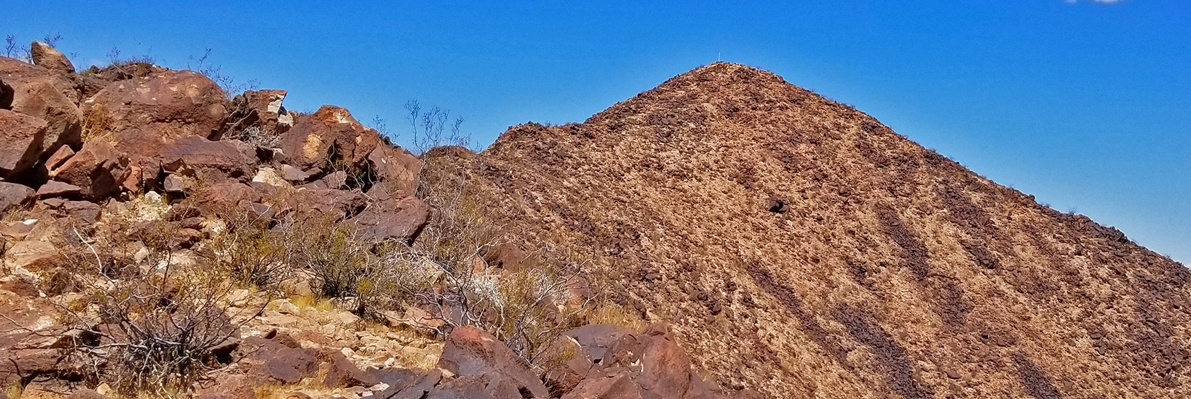 Summit Viewed from Part Way Down the South Ridge | Lava Butte | Lake Mead National Recreation Area, Nevada