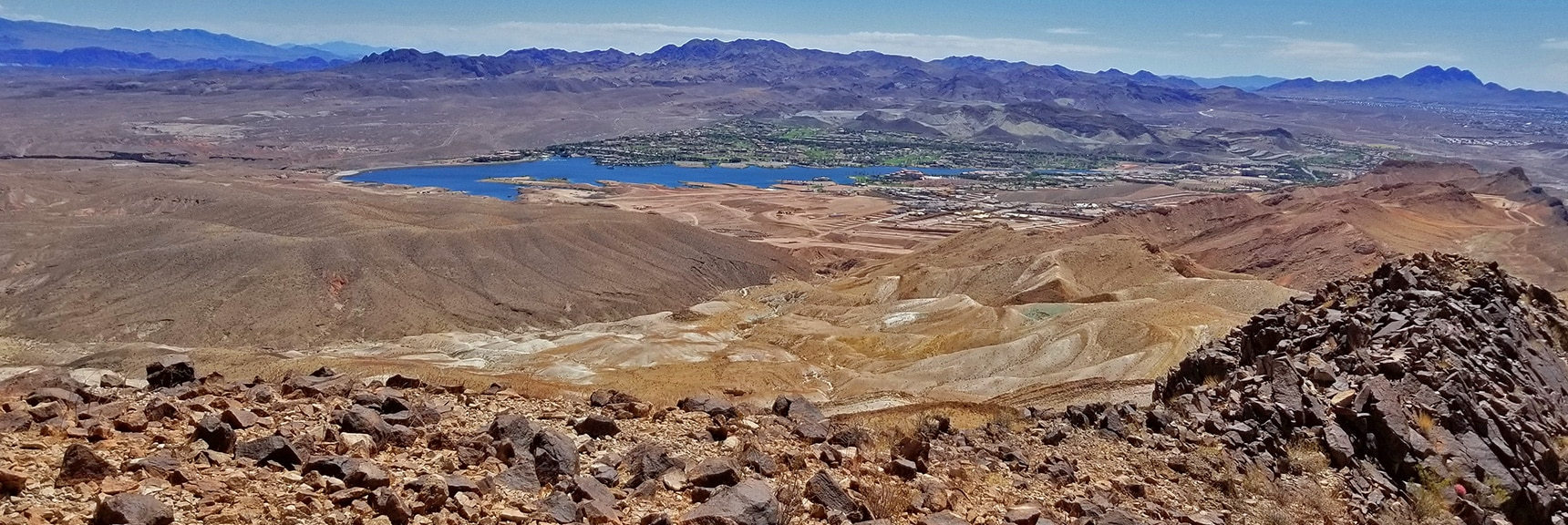 South Ridge Saddle Where I Turned Right (West) to Descend | Lava Butte | Lake Mead National Recreation Area, Nevada